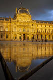 Setting Sunlight and Reflections at Musse Du Louvre, Paris, France Photographic Print by Brian Jannsen