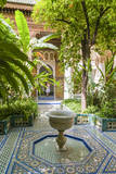 Garden of the 19th Century Bahia Palace, A. Marrakech, Morocco Photographic Print by Nico Tondini