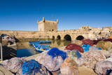 Port with Nets and Fishing Boats, Essaouira, Morocco Photographic Print by Nico Tondini
