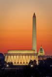 Dawn over Washington Dc, USA Photographic Print by Brian Jannsen