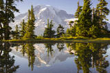 USA, Washington. Mt. Rainier Reflecting in a Tarn Near Plummer Peak Photographic Print by Gary Luhm