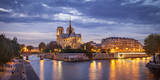 Cathedral Notre Dame and River Seine, Paris, France Photographic Print by Brian Jannsen