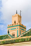 Minaret of Ben Youssef Medersa, a Koranic School. Marrakech, Morocco Photographic Print by Nico Tondini