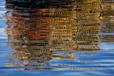 USA, Maine, Reflections of Lobster Traps at Bass Harbor Photographic Print by Joanne Wells