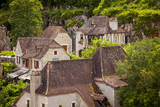 Rooftops in Saint-Cirq-Lapopie, Midi-Pyrenees, France Photographic Print by Brian Jannsen