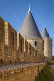 Guard Turrets Surround Carcassonne, Languedo-Roussillon, France Photographic Print by Brian Jannsen