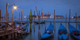 Evening over Gondolas and San Giorgio Maggiore, Venice, Italy Photographic Print by Brian Jannsen