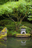 Pagoda and Pond in the Japanese Garden, Portland, Oregon, USA Photographic Print by Brian Jannsen