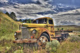 USA, Washington State, Palouse. Old Truck Abandoned in Field Photographic Print by Terry Eggers