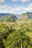Cuba, Pinar Del Rio, Valle De Vinales. Limestone Mogotes Among Farms Photographic Print by Charles Cecil