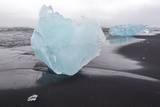 Iceland, Iceberg on Beach Photographic Print by Gavriel Jecan