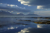 Seaward Kaikoura Ranges Reflect in Tidal Pools, Kaikoura, New Zealand Photographic Print by David Wall