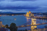 Hungary, Budapest, Twilight Danube Photographic Print by Rob Tilley