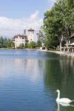 USA, Colorado, Colorado Springs. Broadmoor Resort's Cheyenne Lake Photographic Print by Trish Drury