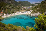 Vacation Resort of Paleokastritsa on the Ionian Island, Corfu, Greece Photographic Print by Brian Jannsen