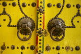 Tunisia. Tunis Medina. Door Knockers on Decorated Door Photographic Print by Charles Cecil