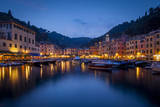 Twilight over the Seaport Village of Portofino, Liguria, Italy Photographic Print by Brian Jannsen