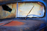 North America, USA, Georgia, Windshield of an Old Rusty Truck Photographic Print by Joanne Wells