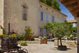Courtyard of Les Carmes B&B Near Isle-Sur-La-Sorgue, Provence, France Photographic Print by Brian Jannsen