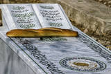 Tunis, Tunisia. Al-Jallaz Cemetery, Bread and Seeds on Grave Photographic Print by Charles Cecil