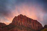 USA, Utah, Zion National Park. the Watchman at Sunset Photographic Print by Jamie & Judy Wild