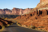 USA, Utah, Capitol Reef, Scenic Drive with Waterpocket Fold Photographic Print by Jamie & Judy Wild