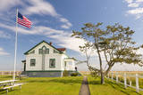 USA, Washington. Dungeness Spit Lighthouse Keepers Cottage Photographic Print by Trish Drury
