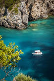 Boating Off the Coast of the Ionian Island of Corfu, Greece Photographic Print by Brian Jannsen