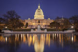 Evening Below the Us Capitol Building, Washington Dc, USA Photographic Print by Brian Jannsen