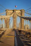 Pedestrian Pathway Along the Brooklyn Bridge, New York City, USA Photographic Print by Brian Jannsen