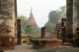 Thailand, Sukhothai. Wat Mahathat Chedi at Sukhothai Historic Park Photographic Print by Kevin Oke