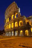 Cobblestones Lead to the Roman Coliseum, Rome, Lazio, Italy Photographic Print by Brian Jannsen
