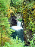 Canada, British Columbia. Waterfall on the Little Qualicum River Photographic Print by  Jaynes Gallery