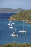 Caribbean, Norman Island. Catamarans and Sailboats in the Bight Photographic Print by Kevin Oke