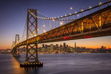 Oakland Bay Bridge and San Francisco Skyline, California, USA Photographic Print by Brian Jannsen