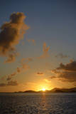 Caribbean, Peter Island. Sunset over Key Point and Key Cay Photographic Print by Kevin Oke