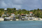 Caribbean, British Virgin Islands, Virgin Gorda. Houses in Spring Bay Photographic Print by Kevin Oke