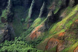 USA, Hawaii, Kauai. Na Pali Cliffs from Awa'Awapui Trail Photographic Print by Roddy Scheer