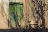 Argentina, Salta, Valles Calchaquies. Shadowed Bike by Green Door Photographic Print by Michele Molinari