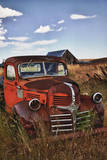 USA, Washington. Rusting Dodge Truck at an Abandoned Farm Photographic Print by Terry Eggers