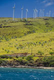 Wind Turbines, Maui, Hawaii, USA Photographic Print by Roddy Scheer