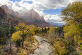 USA, Utah, Zion National Park, Virgin River and the Watchman Photographic Print by Jamie & Judy Wild