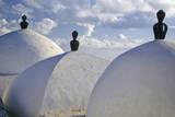Tunisia, Sidi Bou Said. Cupolas, Mosque of Sidi Bou Said Photographic Print by Charles Cecil