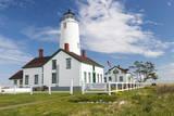 USA, Washington, Sequim, Dungeness Spit. Dungeness Spit Lighthouse Reproduction photographique par Trish Drury