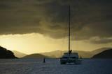 Caribbean, British Virgin Islands, Tortola. Catamaran at Soper's Hole Photographic Print by Kevin Oke