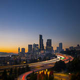 USA, Washington. Seattle Skyline Near the 12th Street Bridge Photographic Print by Gary Luhm