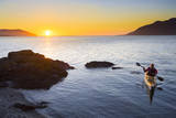 Sea Kayaker at Vendovi Island, San Juan Islands, Washington Photographic Print by Gary Luhm