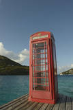 Caribbean, Marina Cay. Pusser's Red Box English Telephone Photographic Print by Kevin Oke