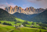 Santa Maddelena and the Dolomites, Trentino-Alto Adige, Italy Photographic Print by Brian Jannsen