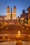 People Relaxing Below Triniti Dei Monti Church, Rome, Lazio, Italy Photographic Print by Brian Jannsen